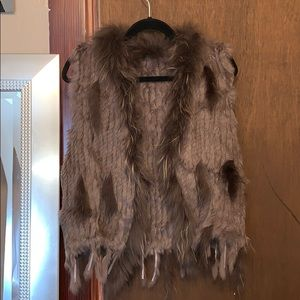 Feathered vest
